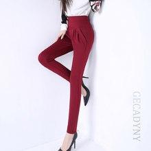 00ad96424f 2018 de la moda de las mujeres slim elástico de alta cintura lápiz Pantalones  harem Pantalones elegancia Pantalones ol más tamañ.