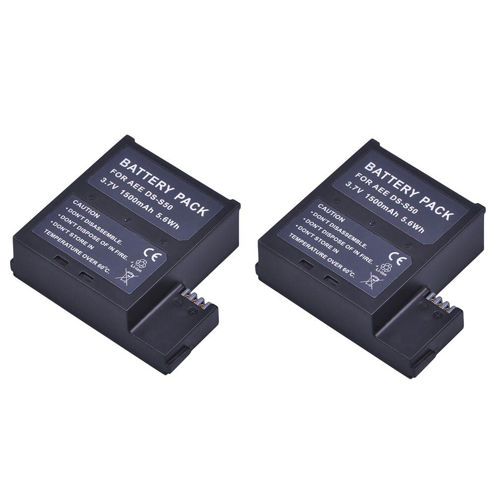 Batmax 2 Pcs 1500 mAh DS-S50 DSS50 S50 Batterie Packs Accu pour AEE DS-S50 S50 Batterie AEE D33 S50 S51 S60 S71 S70 Caméras
