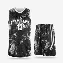 03761b0f Новый возврат Баскетбол Майки комплекты мужские спортивные training Майки  комплект дышащий пустые взрослых баскетбольная форма для