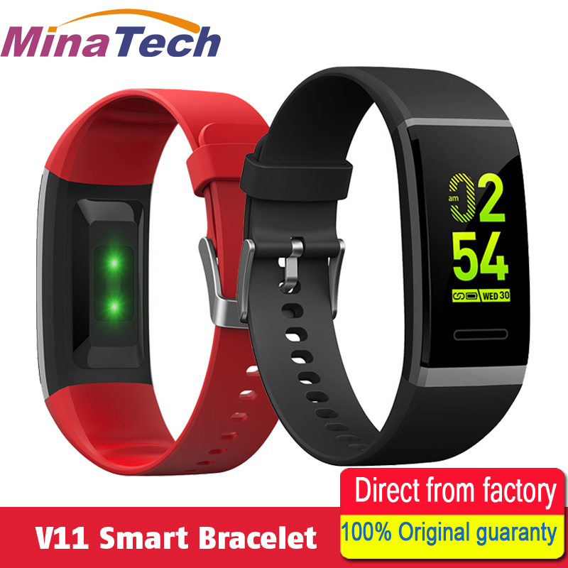 V11 Smart Wristband Heart Rate Blood Pressure Smart Band Bracelet Pedometer Sport Fitness Tracker For Android IOS PK ID115 Plus