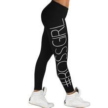 Women Printed Boss Skinny Leggings Girl Letter Leggings Sportswear Stretchable Pants Fitness Feminino