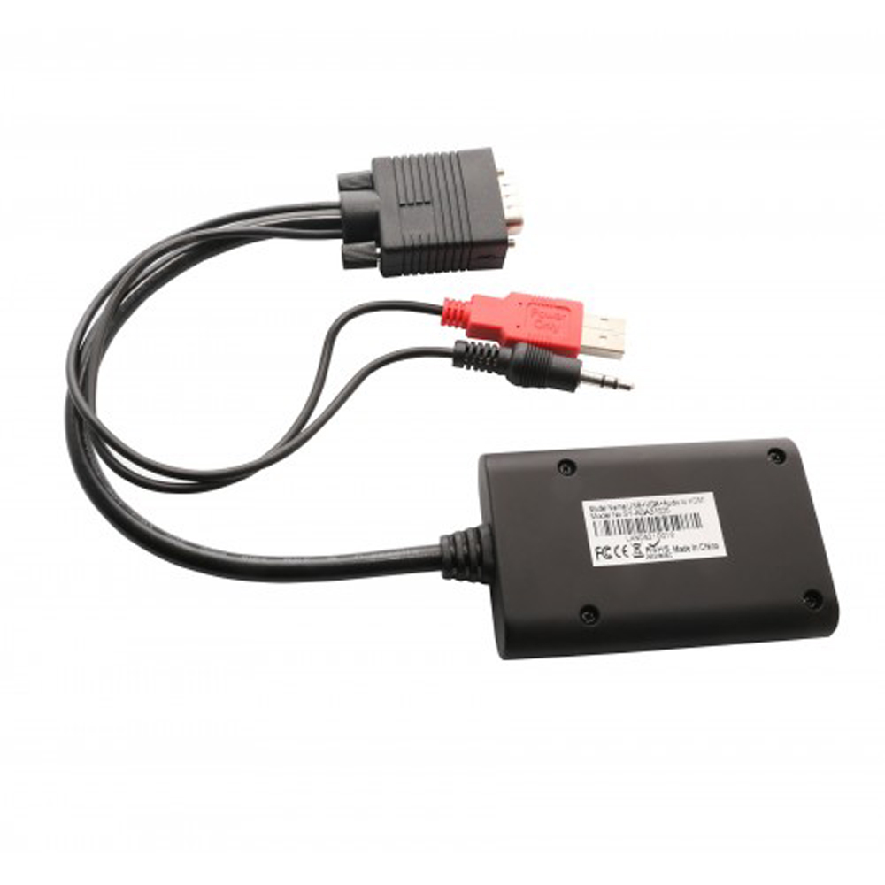 SYBA Universal VGA To HDMI Converter With Audio Support, Adapter For PC, Laptop, DVD, Desktop, SY-ADA31025