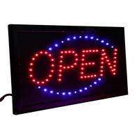 CHENXI 36 Styles LED Open Sign Advertising Light Bright Animated Motion Runing Neon Lamp for Business Shop Open Led Display