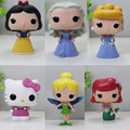 "FUNKO POP Princess Cinderella Tinker Bell Little Mermaid Ariel Snow White PVC Action Figure Collection Toy Doll 4"" 10cm Models"