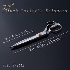 Image 2 - FENGZHU 12 นิ้วตัดกรรไกรสแตนเลสสตีลมืออาชีพตัดกรรไกรสแตนเลสการ์เม้นท์เสื้อผ้าตัดผ้า SHARP