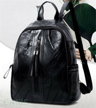 2019 Fashion Lady Women PU Leather Rucksack Travel Shoulder Bag Girls Ladies Backpack Black Backpacks Bags