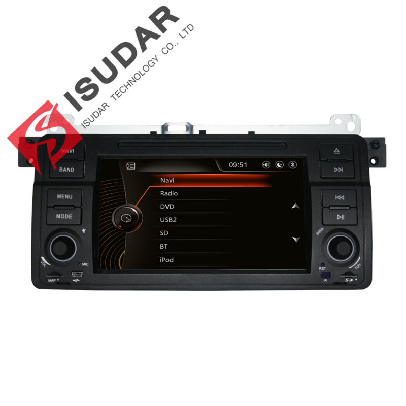 цены Isudar Car Multimedia Player GPS For BMW/E46/M3/MG/ZT/Rover 75 Canbus Radio Capacitive Touch Screen DVD Player Bluetooth Ipod