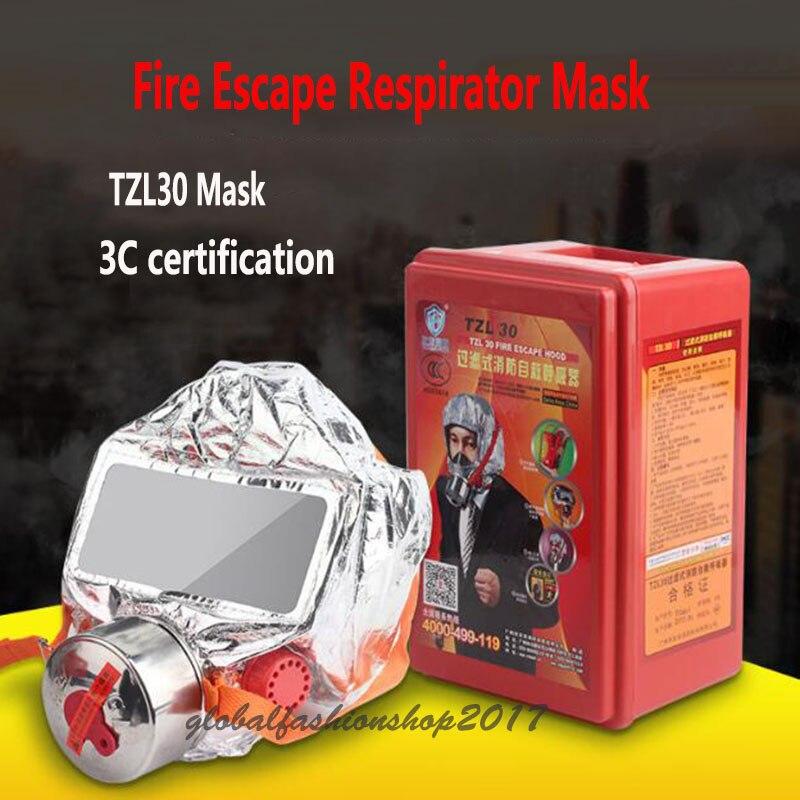 Fire Escape Masque Respirateur 3C Certification Respirateur Masque À Gaz D'urgence Fumée Feu Masque D'évacuation