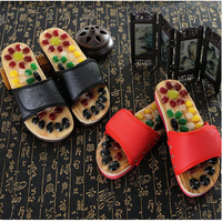 170603/Natural pebbles massage slippers / foot acupoints health shoes / men and women couples foot massage massage home shoes