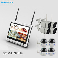 Aokwe New Arrival 8ch Indoor And Outdoor DIY IR 1080 IP Real P2p WiFi Wireless Cctv
