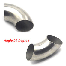 Hot Excellent 4 Stainless Steel 90 ° Bend 102mm Elbow Exhaust Pipe Rreplaces 76mm 90 degree tight stainless exhaust mandrel bend tube pipe bend high quality 201 stainless steel