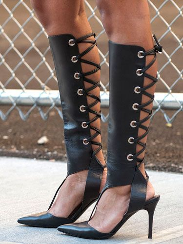 Western sexy black summer leather boots woman pointed toe hallow out cross tied sandals thigh high heel botas feminina shoes Western sexy black summer leather boots woman pointed toe hallow out cross tied sandals thigh high heel botas feminina shoes