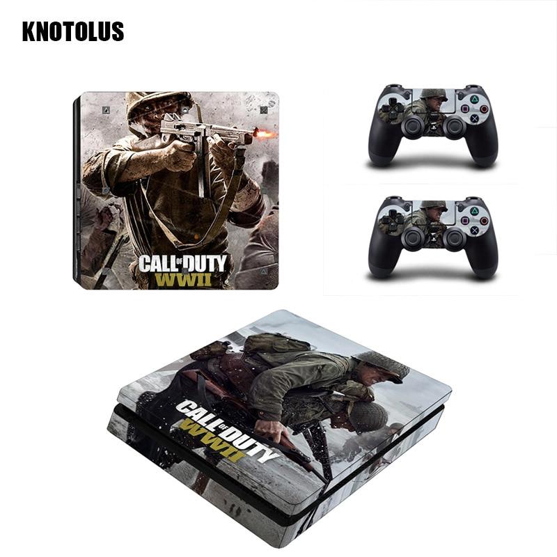 Call of Duty: второй мировой войны серии Стикеры s винил Обложка Наклейка для ps4 Slim кожи Стикеры для sony Play Station 4 Slim консоли контроллера