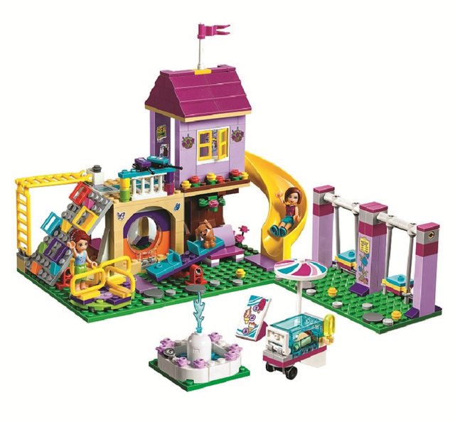 New Girl Heartlake City Playground Building Blocks Bricks Education Sets Toys For Girls Gift With Friends 41325