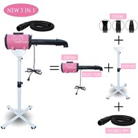 The 5 In 1 Sets Brand Cheap Dog Grooming Dryer Pet Hair with Holder Rack Blower 220v/110v 2400w Eu Plug Models