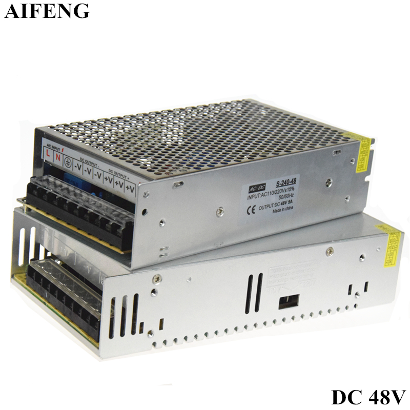 все цены на AIFENG Switching Power Supply AC 220V 110V To DC48V 5A 240W 7.5A 360W Led Driver Switch Power Supply Adapter For Led Strip Light онлайн