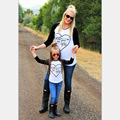 Family Matching Outfits Mom and daugnter printing God gave me you T-Shirt Long Sleeve Cotton Top Tees Spring Autumn Family Look