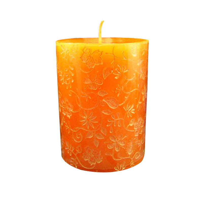 Silicone Candle Mold 3D Round Cylinder with Classical Relief Handmade Craft Mould  -in Candle Molds from Home & Garden