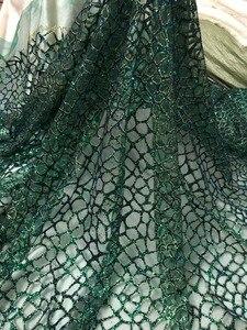 Image 3 - 패션 쇼 JIANXI.C 51532 무대 쇼/이브닝 드레스/파티를위한 반짝이 장식 조각 자수 얇은 명주 그물 레이스를 붙였다