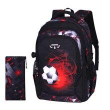 طباعة كرة القدم المدرسية الطفل أنيمي أكياس ظهر للسفر المغامرات الحقائب المدرسية للمراهقين mochila escolar infantil menino