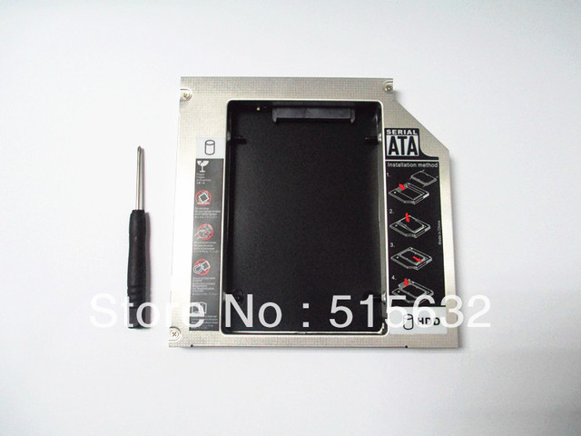 SATA 2nd HDD SSD Hard Drive caddy Adapter for DELL E series E6320 E6420 E6520