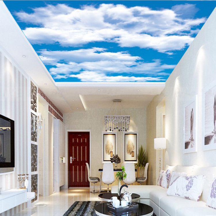 New Style Custom Ceiling Murals Wallpaper 2016 Hotsale Non Woven Wallpaper  Sky And Cloud Design-in Wallpapers from Home Improvement on Aliexpress.com  ...