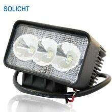 SOLICHT 4,3 '', рабочее освещение для тяжелого оборудования, светодиодный 9 Вт, 12 В, 24 В, прожектор, 4X4, вездеход, тягач, внедорожный светодиодный светильник, светодиодный светильник для прицепа
