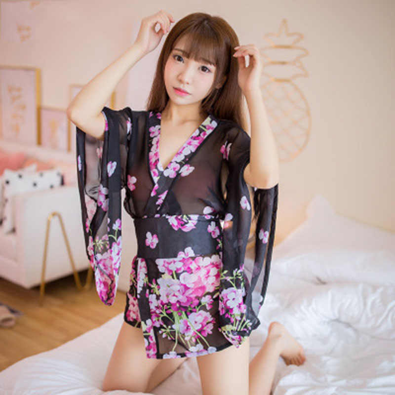 Лидер продаж, милые женские кимоно с сеткой, перспективный принт, кимоно, японская униформа, соблазнительный сексуальный костюм, кимоно из полиэстера, mujer