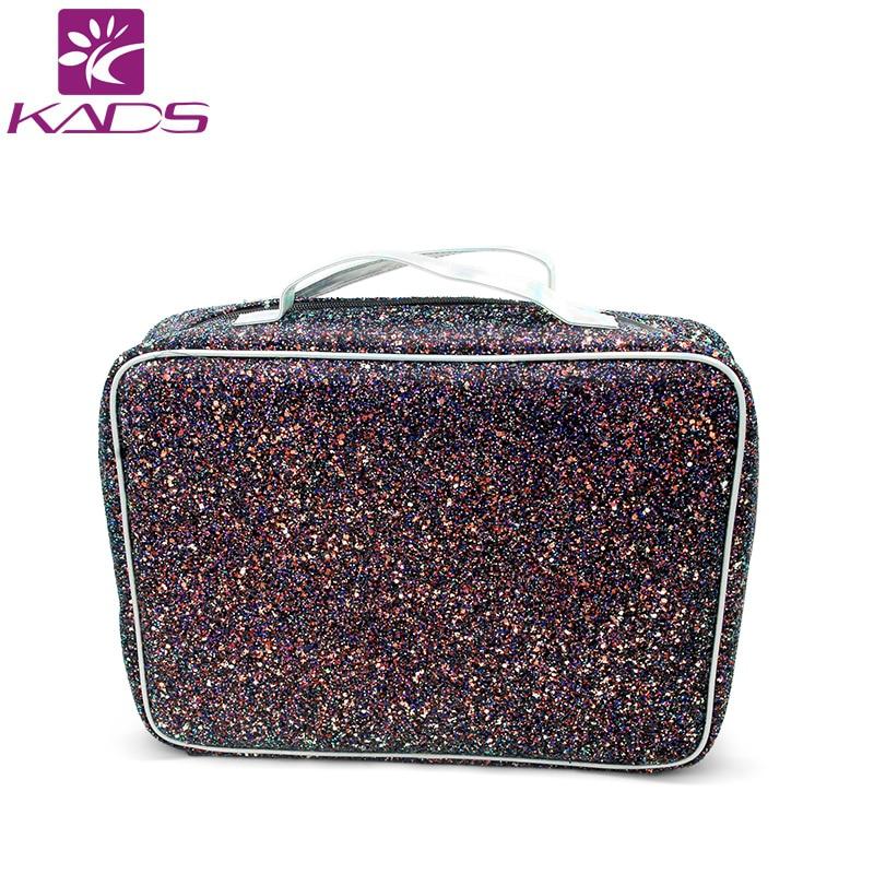 KADS Pink & Black Big Size Stamping Plate Holder Storage Bag Case Nail Stamping Bag For Nail Art Stamp Template Organizer