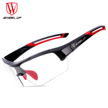 WHEEL UP Photochromic Cycling Glasses Discoloration Glasses MTB Road Bike Sport font b Sunglasses b font