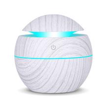 USB zapachowy olejek eteryczny dyfuzor ultradźwiękowy nawilżacz powietrza Cool Mist oczyszczacz powietrza 7 LED zmieniające kolor noc światło dla Office Home tanie tanio KBAYBO 130ml 36db Mgła absolutorium Aromaterapia Gospodarstw domowych Inne 11-20 ㎡ Sterowanie dotykowe Nawilżania