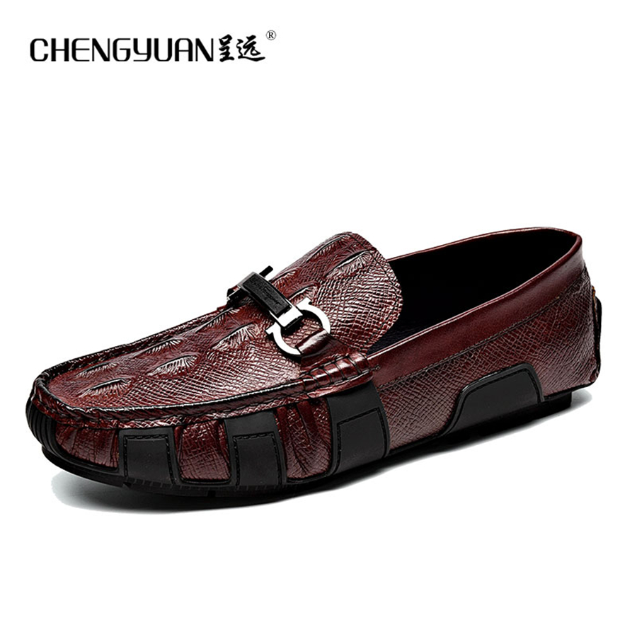 Men flat leather loafers Casual cool genuine leather shoes mens wine red black Cool boat summer us9 Shoes 9500 CHENGYUAN коляска esspero summer line wine red sl010a 108068266