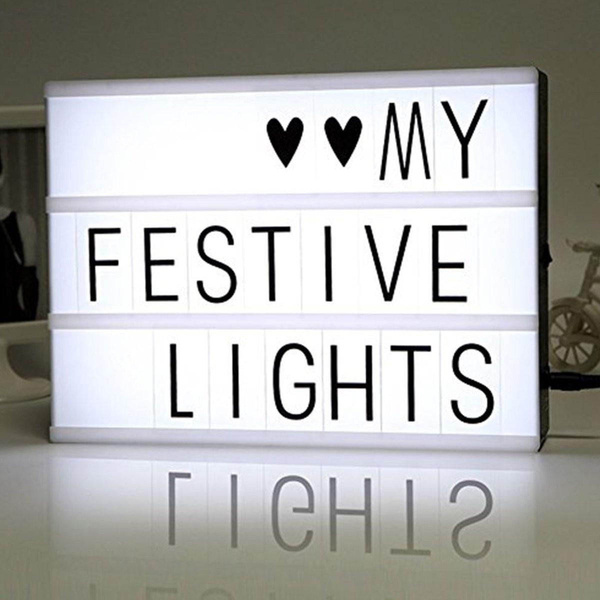 Conjunto de A4 tamaño LED de combinación de caja de luz de la noche la lámpara DIY negro cartas tarjetas de puerto USB alimentado por el cine caja de luz