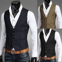 השחור עם צווארון גברים אפוד חליפת חמישה כפתורים של גריי הגברים חתונת חזיית אופנה יחידה חזה גברים אפוד