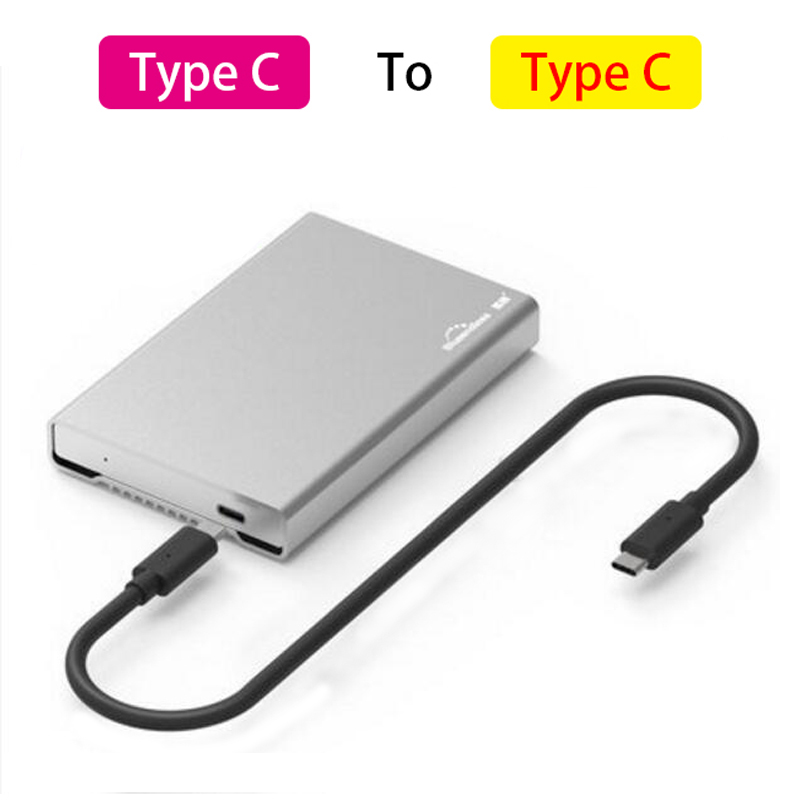 Usb 3.1 Type C Hdd Enclosure Full Metal Aluminum Hard Drive Caddy 2.5 External Hard Disk Cover Case For Sata Hdd Ssd Blueendless