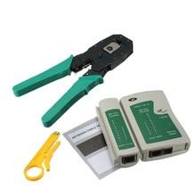 CAT5e RJ45 RJ11 RJ12 CAT5 LAN Network Tool Kit Portátil Utp Cable Tester Y Encrespadura Del Arrugador Alicates Abrazadera Conector PC E2shoppi