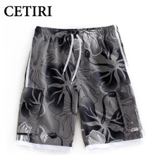 CETIRI Plus Size Summer Style Casual Beach Board Shorts Men Quick Drying Printing