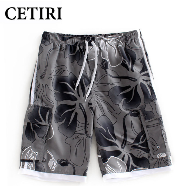 Plus Size Brand New Summer Style Casual Men Shorts Beach Board Shorts Men Quick Drying Printing Polyester Clothing Boardshorts