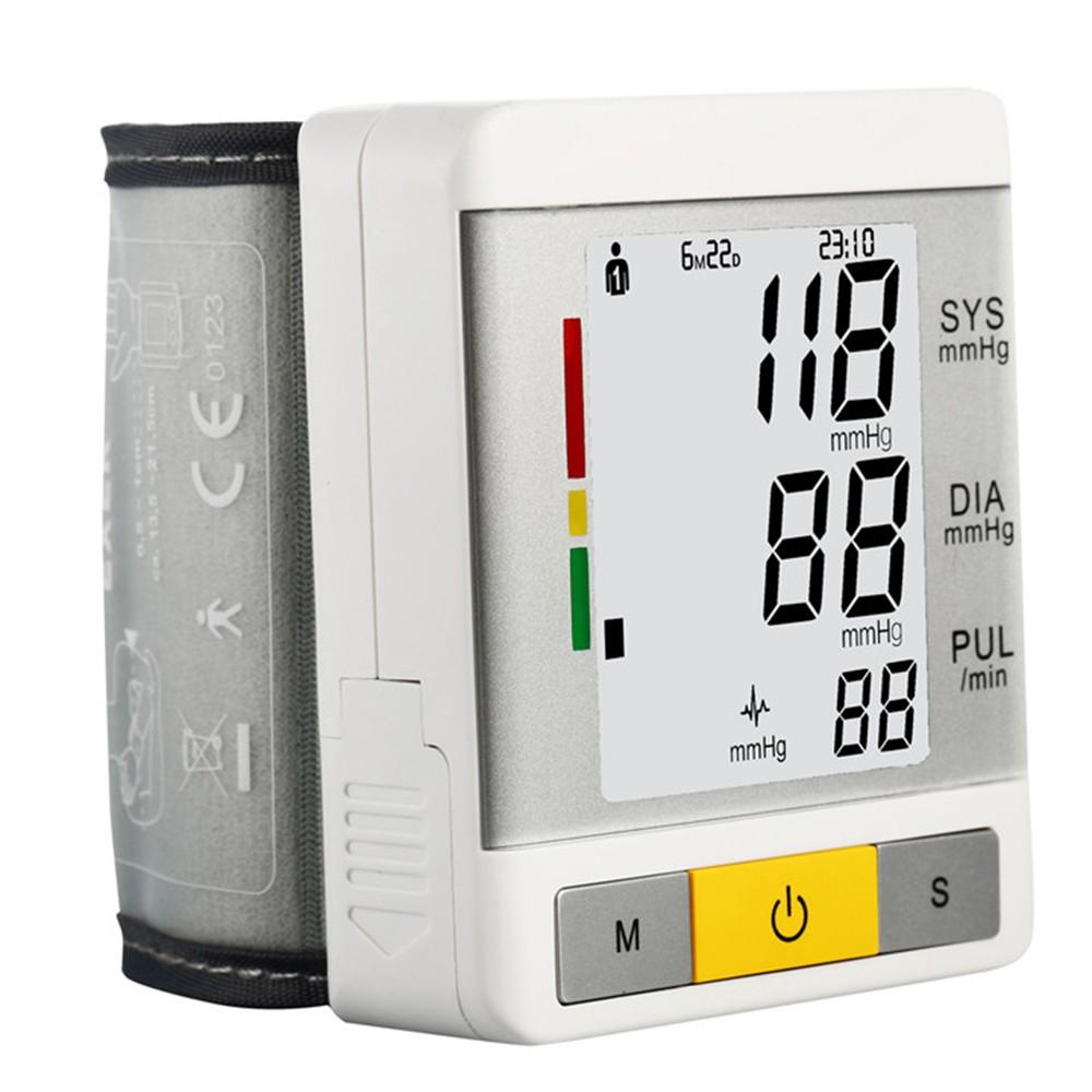 AOEOM Household Health Monitor , Portable Digital Wrist Blood Pressure Pulse Monitor Sphygmomanometer tonometer For Health Care 13