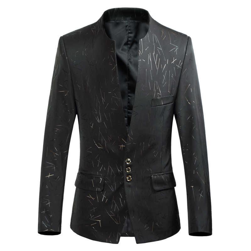 男性白スーツ長袖サイズ 6XL スリムエレガントなメンズレジャーブレザージャケット 7 色のオプションファッション人気のホット販売スーツの男