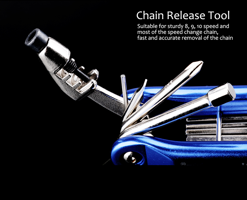 Multifunction 10in1 Bicycle Repair Folding Tool Set
