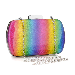 Модная вечерняя сумочка в радужной коробке, женская дизайнерская элегантная сумка для вечеринки, свадьбы, клатч, сумочка, Женская сумочка, желеобразная цепочка, сумки на плечо