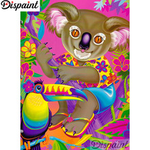 Dispaint Full Square/Round Drill 5D DIY Diamond Painting Cartoon bear bird 3D Embroidery Cross Stitch Home Decor Gift A12453
