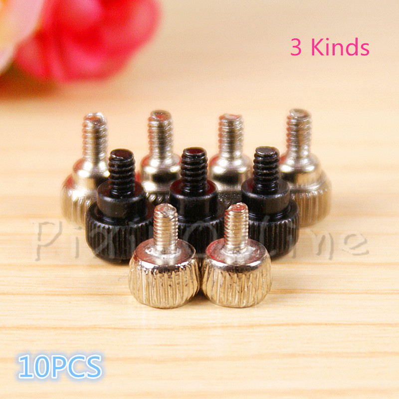 10PCS ST058b Computer Case Screws DIY Thumb Screw Black Silver Color Add Tiny Style Desktop Computer PC Case Thumbscrews 50pcs thumb screw m3x8mm m3 for diy computer pc case sil