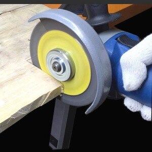"Image 5 - HS Werkzeuge 3 Zähne 5 ""Holz Carving Rad Power Werkzeug Winkel Grinder Anhänge Kreissäge Klinge Log Grinder Disc holz Schneiden"