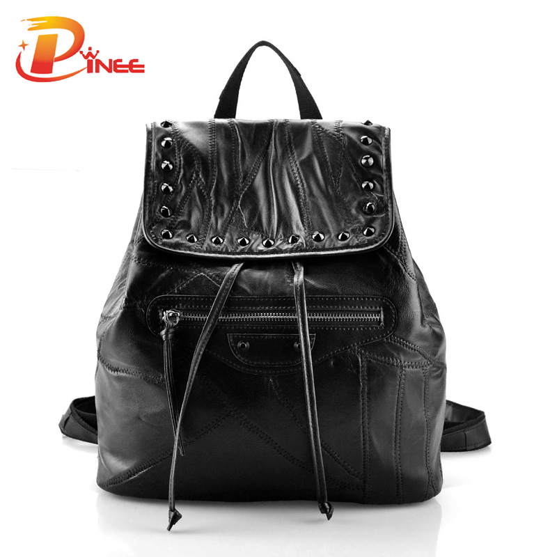 ФОТО New 2016 Youth Bag Genuine Leather Women's Backpack Designer Shoulder Bags For Women Dropshipping