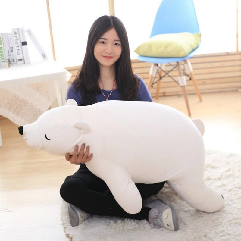 27cm 50cm Kawaii Polar Bear Stuffed Toys Stuffed Animal Bear Plush Kawaii Plush Toys Soft Bedtime Sleep Doll Newborn Baby Kids stuffed animal 44 cm plush standing cow toy simulation dairy cattle doll great gift w501