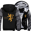 Game of thrones Hoodie House Lannister Hera Me Roar Casterly Rock Men Women Thick Warm Winter Coat Hoodies Sweatshirts US Size