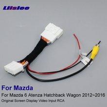 Liislee для Mazda 6 Atenza хэтчбек Wagon 2012~ камера заднего вида видео вход Переключатель RCA адаптер для проводов кабеля