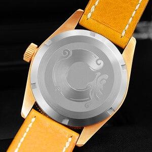 Image 3 - ผู้ชาย Vintage ดำน้ำนาฬิกา Vintage Bronze ดำน้ำแกะสลักนาฬิกาอัตโนมัติ 50ATM Multicolor หน้าปัด Retro Seagull Movement นาฬิกาข้อมือ